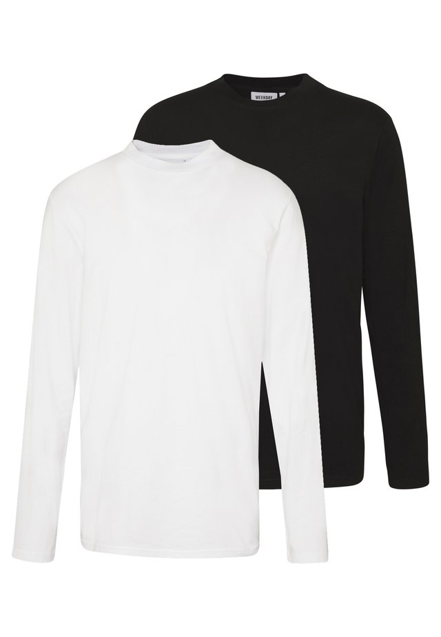 JAKE LONG SLEEVE 2 PACK - Maglietta a manica lunga - black/white