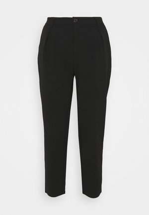 TAPERED PANTS WITH DART DETAIL  - Kalhoty - black