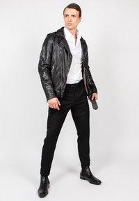 Freaky Nation - HOUSTON CITY - Leather jacket - black - 1