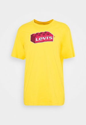 X LEGO RELAXED FIT TEE UNISEX - T-shirt imprimé - yellow