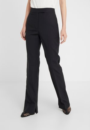 STRUCTURED PANT - Bukse - black
