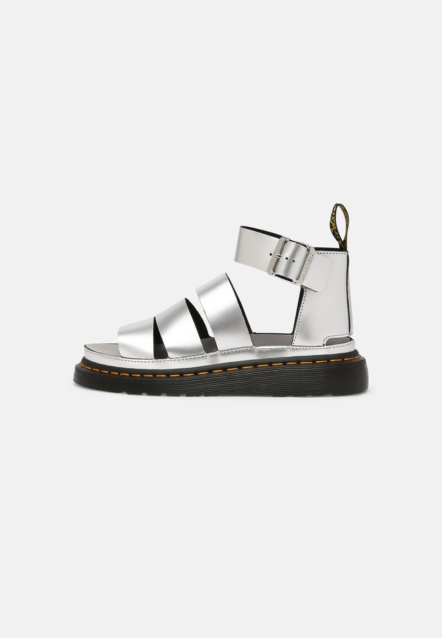 CLARISSA LI - Platform sandals - silver