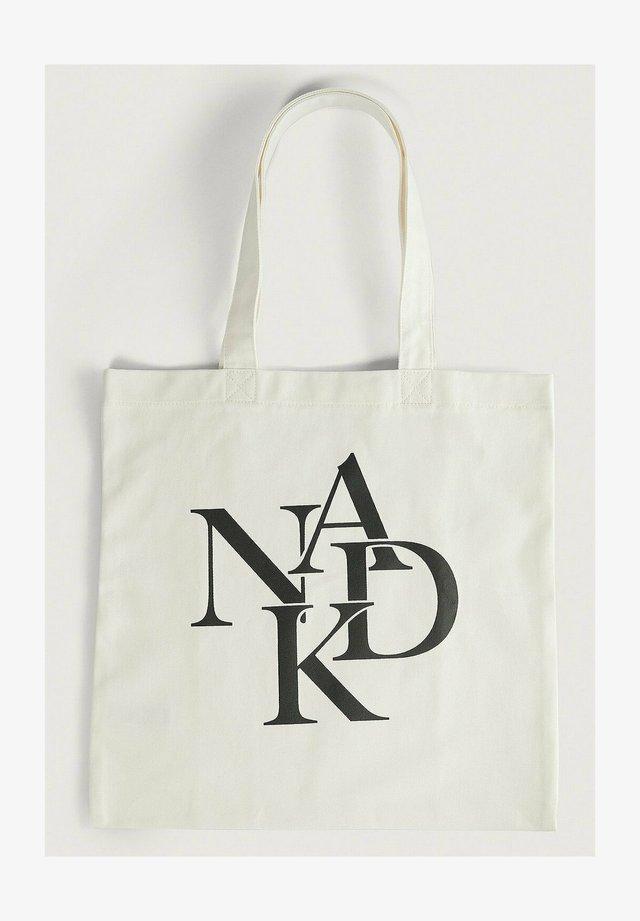 LAYERED LOGO - Shopping bag - natural