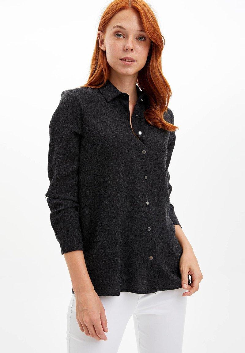 DeFacto - Button-down blouse - black