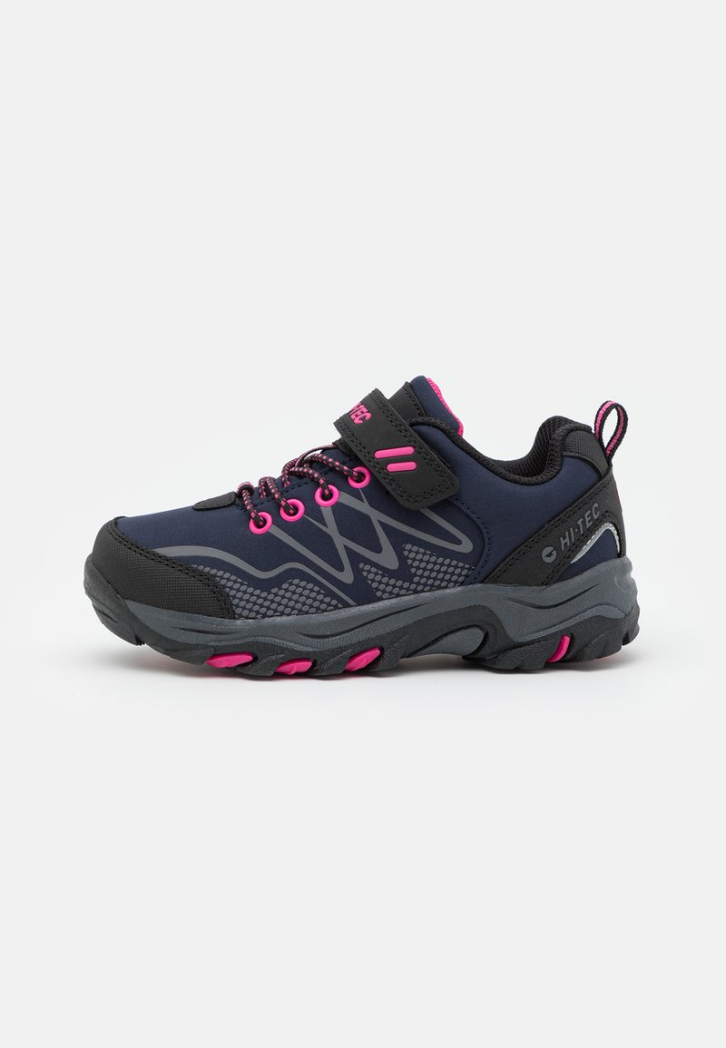 Hi-Tec - BLACKOUT LOW UNISEX - Hiking shoes - navy/magenta