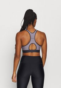 Under Armour - MID KEYHOLE BRA - Sports-BH - slate purple - 2