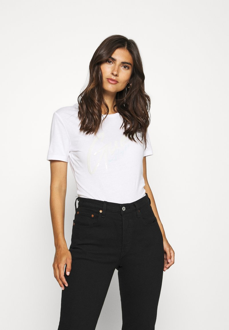 Guess - GENNY TEE - T-shirts med print - true white