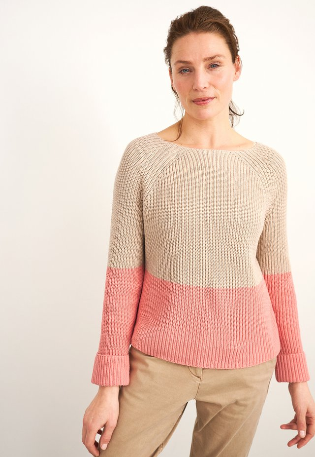 Pullover - beige/pink