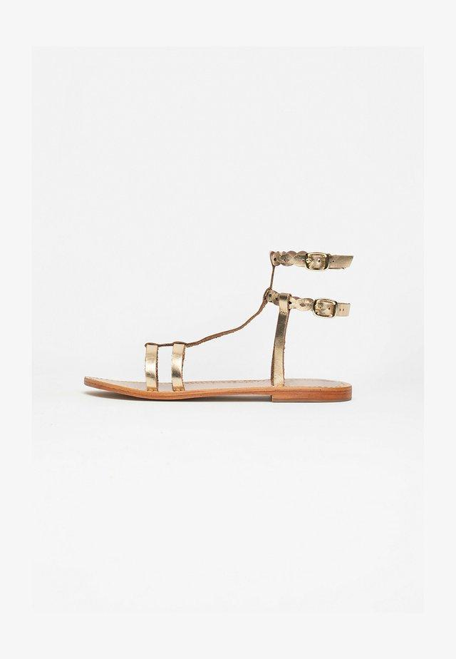Sandalen met enkelbandjes - gold
