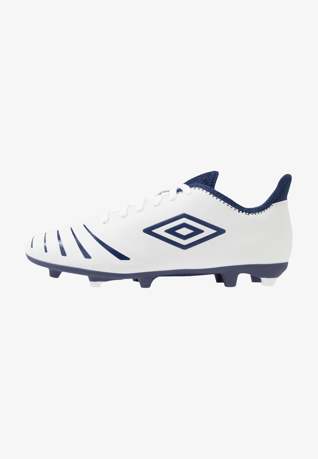 UX ACCURO III CLUB FG - Moulded stud football boots - white/medieval blue/blue radiance