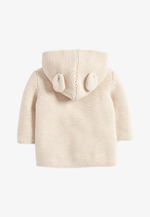 OATMEAL HOODED EAR CARDIGAN (0MTHS-3YRS) - Gilet - off-white