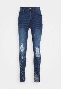 Good For Nothing - RIPPED WITH PAINT SPLATTER - Skinny džíny - blue - 4