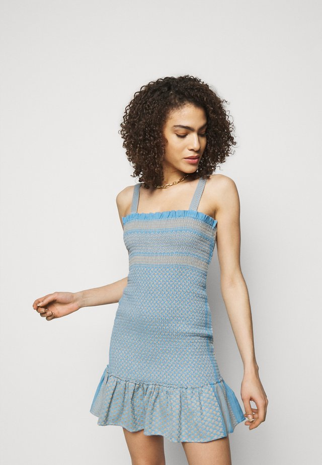 JUDITH - Gebreide jurk - blue