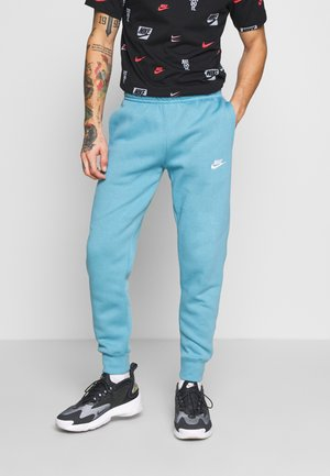 CLUB - Tracksuit bottoms - cerulean/white