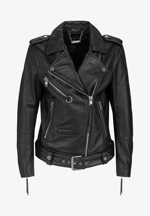 ICONIC BIKER - Leather jacket - black