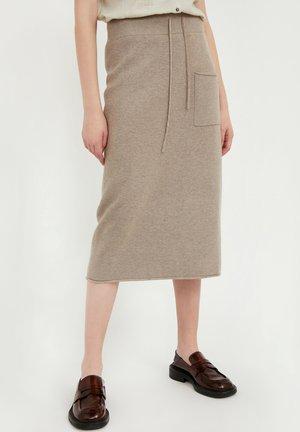 ROCK - Pencil skirt - grey