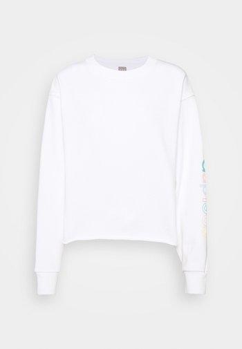 CROP RAW EDGE - Sweatshirt - fresh white