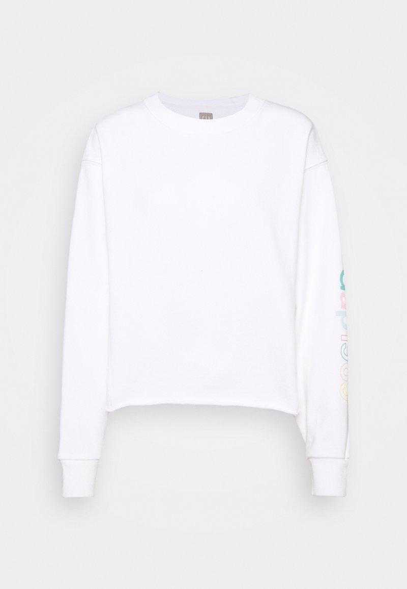 GAP - CROP RAW EDGE - Sweatshirt - fresh white