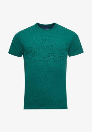 VINTAGE LOGO EMBOSSED - Print T-shirt - forest green marl