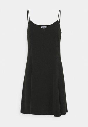 FAWN SLIP DRESS CHECK - Vestido informal - black