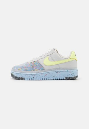 AIR FORCE 1 CRATER - Trainers - pure platinum/barely volt/summit white/chambray blue/black