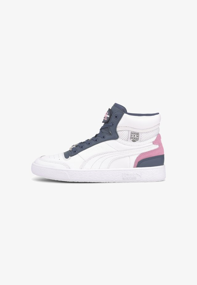 X VON DUTCH RALPH SAMPSON - High-top trainers - white-dark denim