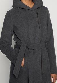 ONLY - ONLCANE COAT - Mantel - dark grey melange - 4