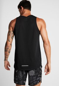 Nike Performance - RISE TANK - Sports shirt - black/silver - 2