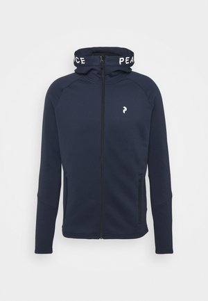 RIDER ZIP HOOD - Fleecová bunda - blue shadow