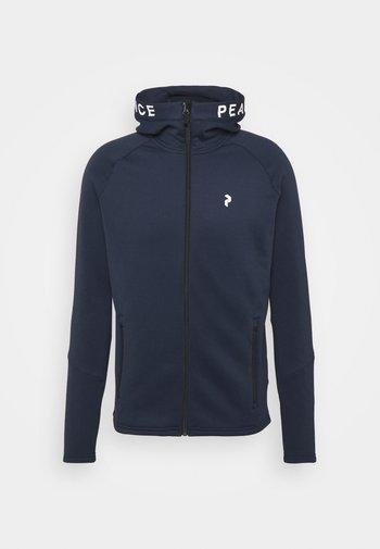 RIDER ZIP HOOD - Fleece jacket - blue shadow