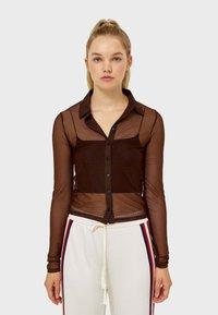 Stradivarius - Button-down blouse - brown - 0