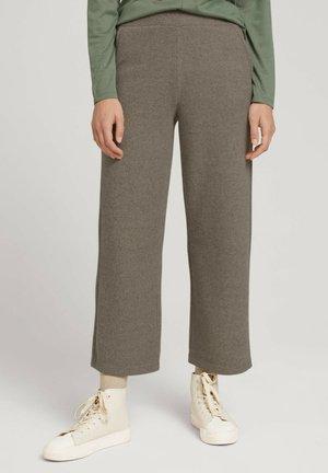 Trousers - oyster grey melange