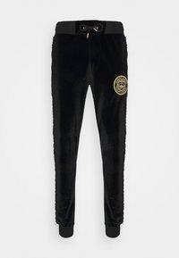 Glorious Gangsta - MATEO ZIP JOGGERS - Pantalon de survêtement - jet black - 0