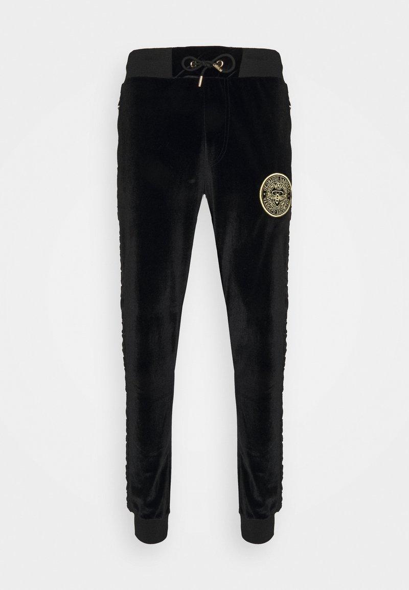 Glorious Gangsta - MATEO ZIP JOGGERS - Pantalon de survêtement - jet black