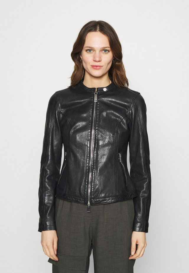 NEW TULA - Leather jacket - black