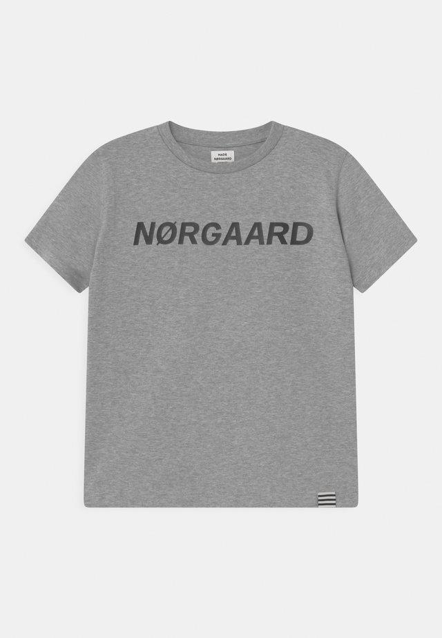 TEE THORLINO UNISEX - Print T-shirt - grey melange