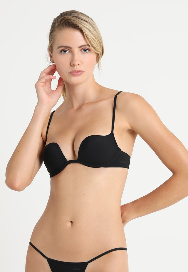 PADDED WITHOUT WIRE COP - Push-up BH - black