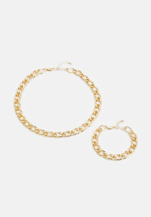 PCLAUY BRACELET NECKLACE SET - Rannekoru - gold-coloured
