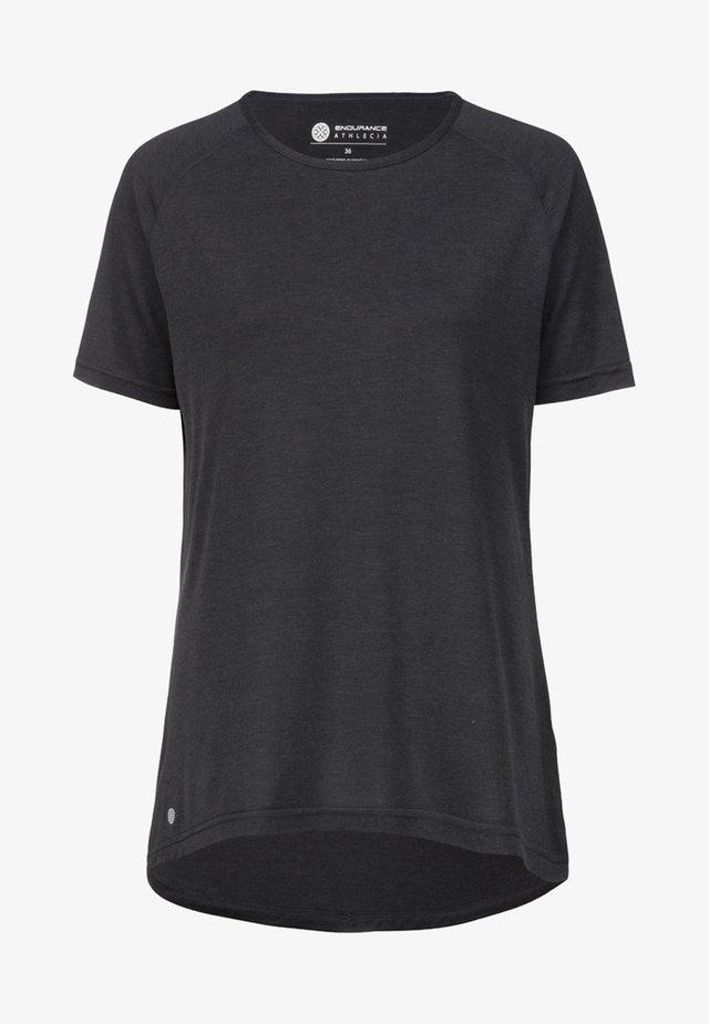 SURIGA  - Basic T-shirt - dark grey melange