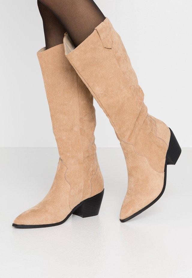 RAFFERTY - Cowboy/Biker boots - camel