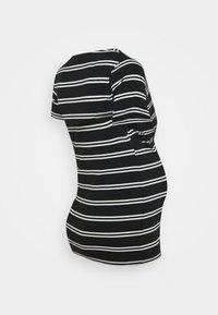 MAMALICIOUS - NURSING 2 PACK - T-shirt print - snow white/black - 2