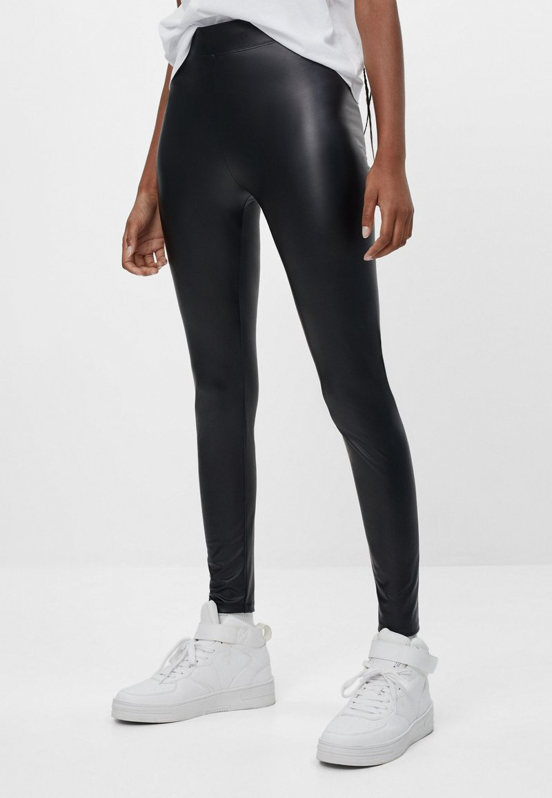 Bershka - Leggings - black