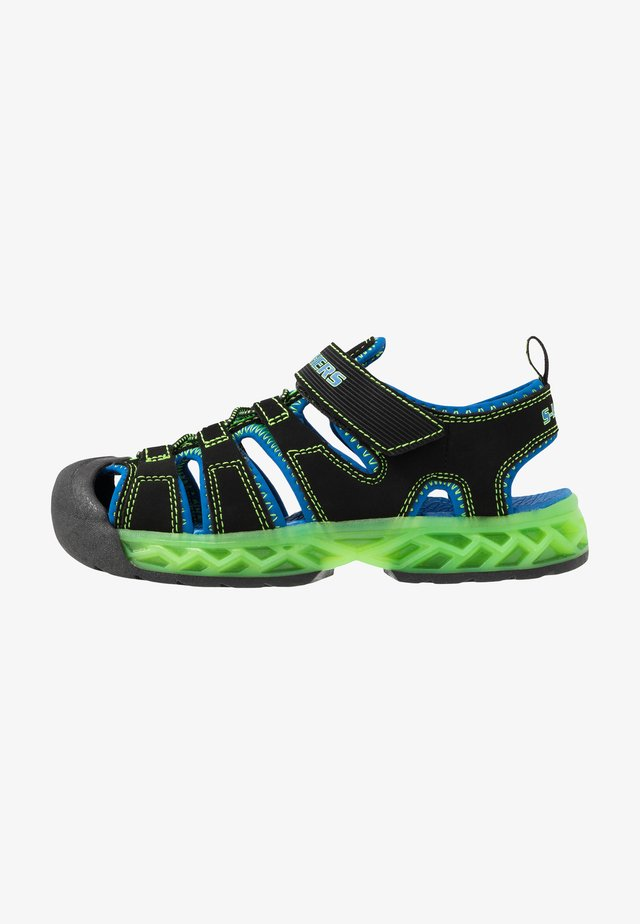 FLEX-FLOW - Walking sandals - black/blue/lime