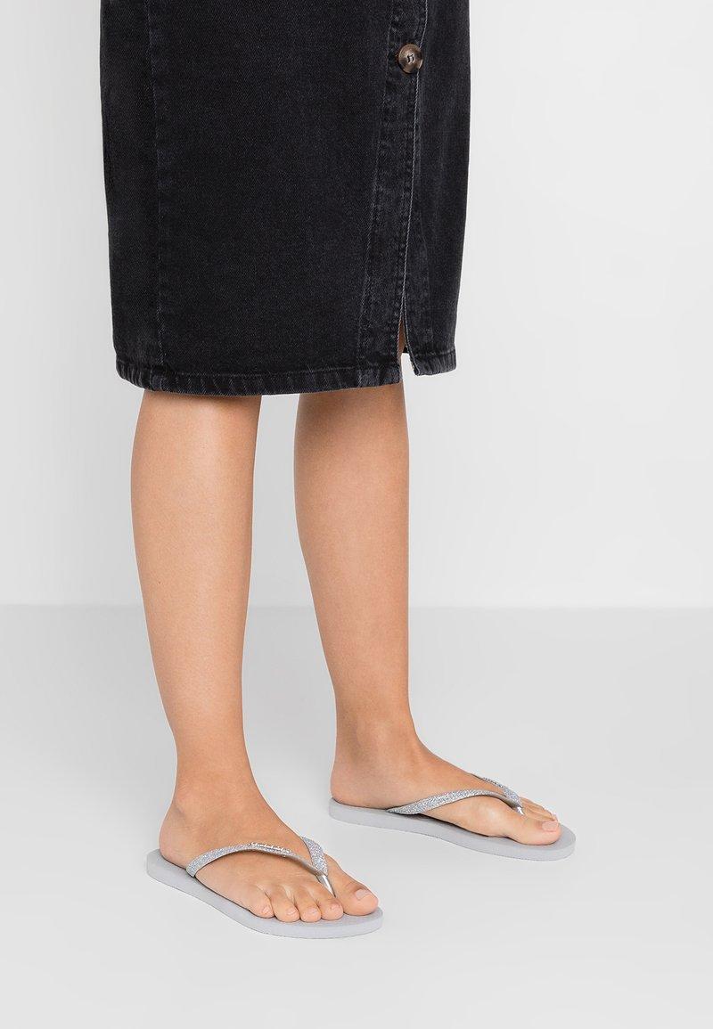 Havaianas - SLIM GLITTER - Pool shoes - steel grey