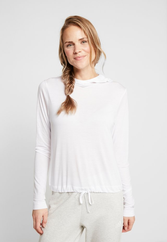 LIQUID HOOD - Long sleeved top - white