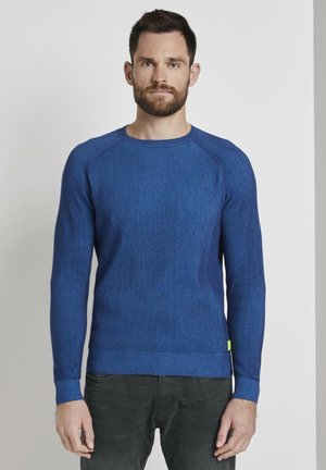 MIT RIPPMUSTER - Jumper - blue