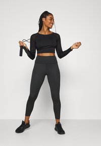 South Beach - SIDE PANEL LEGGING - Medias - black - 1