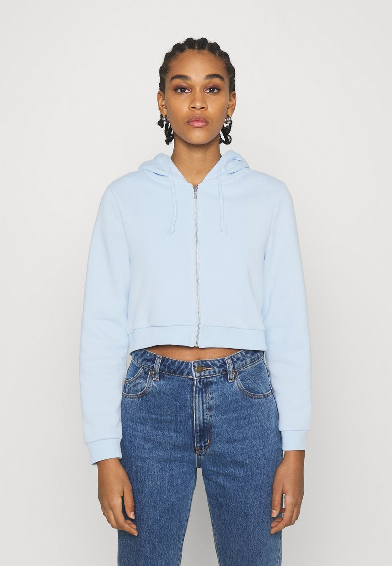 Monki - JOANNA HOODIE - Bluza rozpinana - blue light