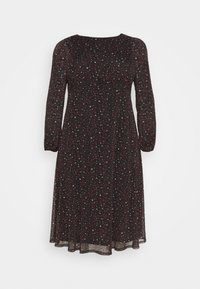 Evans - PRINTED HANKY HEM DRESS - Day dress - black - 3