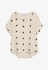 Violeta by Mango - WALTER - T-shirts med print - cremeweiß - 4
